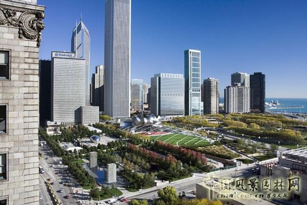 芝加哥千禧公园卢瑞花园