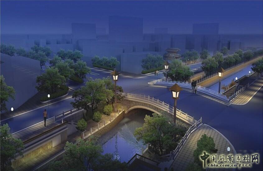 济南市兴济河、工商河河道绿化景观设计(图)