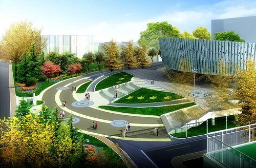 同圆作品:山东大学综合体院馆环境景观设计(图)