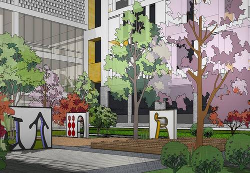 同圆作品:济宁·微山县璎轩幼儿园及小学景观设计